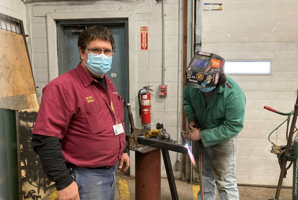 Welding Instructor has Questar III Roots