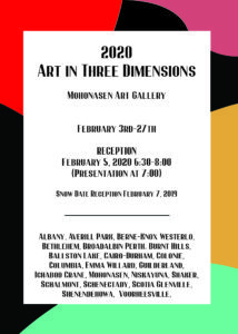 Student Pieces in Art in Three Dimension Show