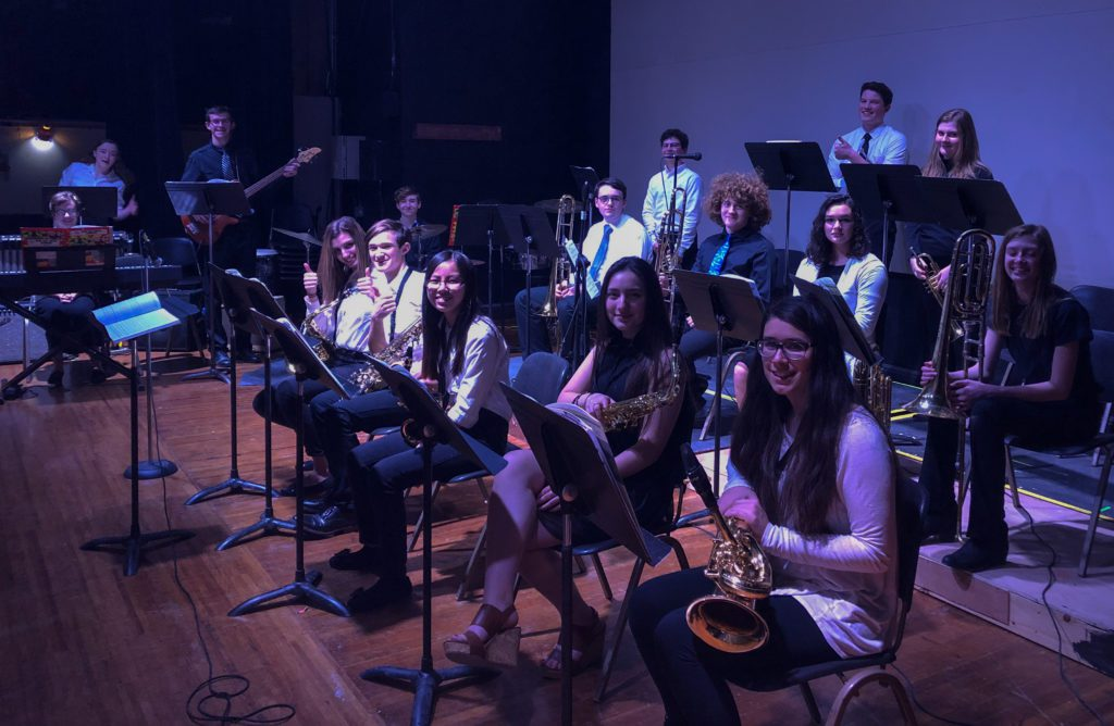 Students at All County Jazz Festival