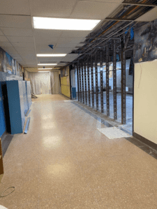HS Guidance Suite Almost Ready for Insulation, View from Corridor