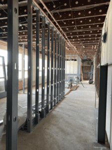 HS Guidance Office Wall Framing