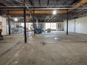 Framing for New Classrooms in MS 100 Pod