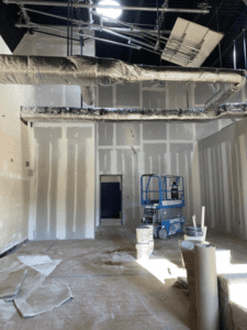 MS Temp. Classrooms Ready For Paint