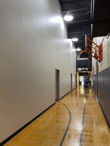 MS Small Gym Corridor To Temp Classrooms Complete