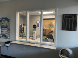 MS Greeter Station with Glazing Installed