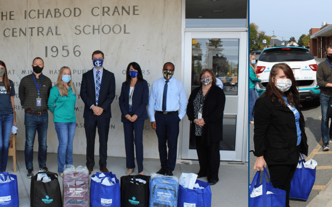 PICTURES: District Receives PPE from Fidelis, United Way & Greene Med. Arts Pharmacy