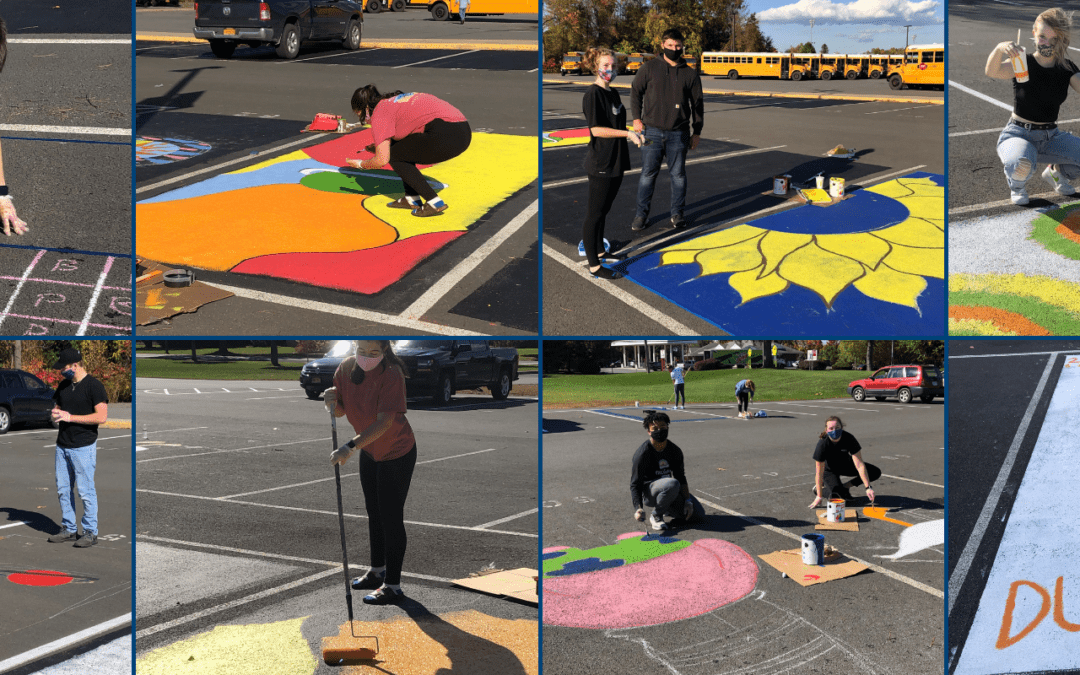 PICTURES: Senior Painted Parking Palooza!