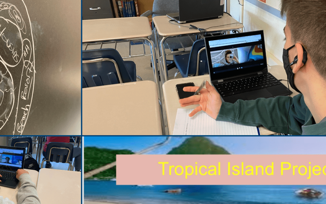 Economics Students Working On Tropical Island Projects