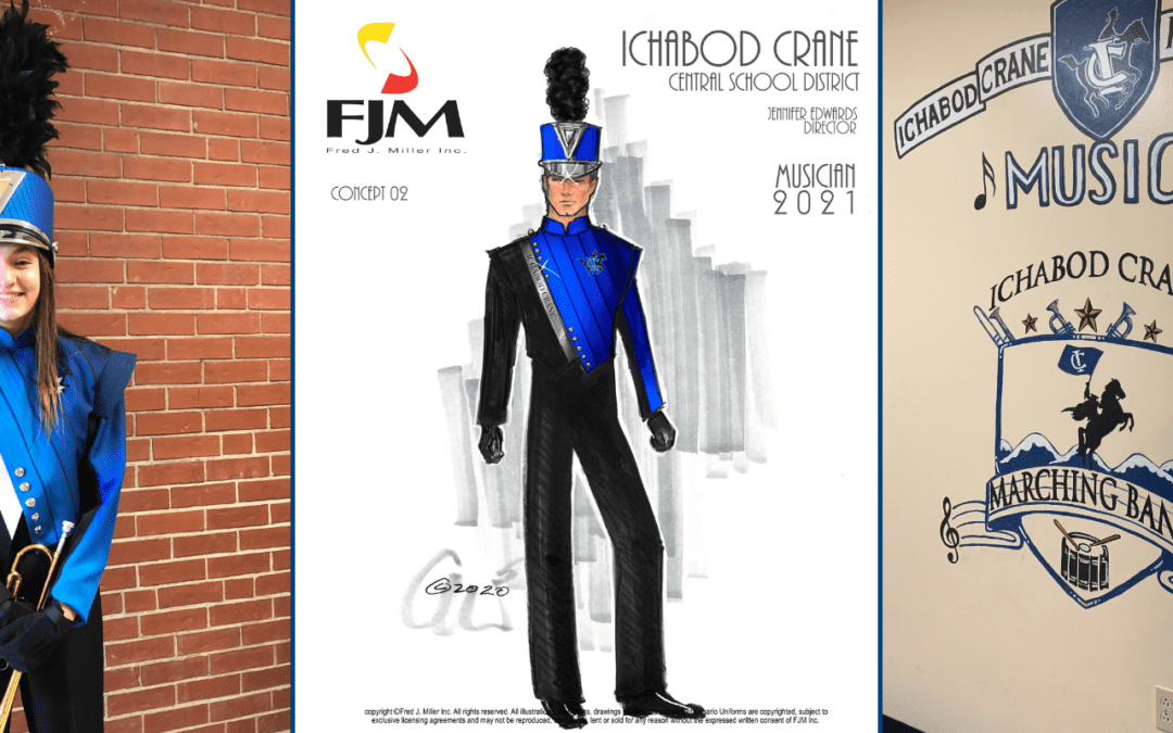 Marching Band Sketch and Sample Uniforms