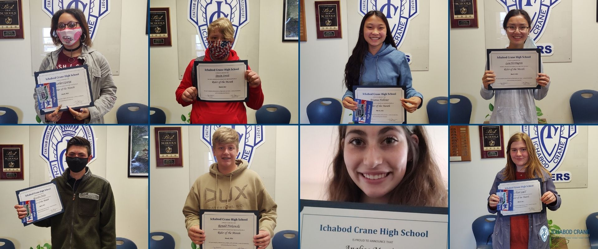 High School Riders of the Month