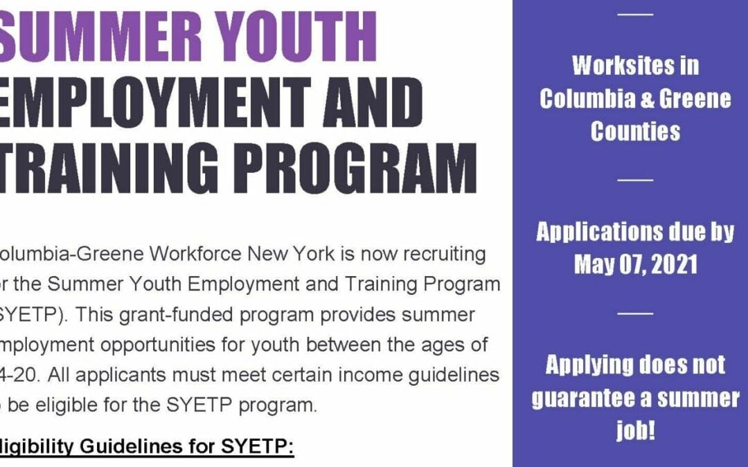 Summer Employment Program for Students Ages 14+
