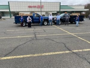 Ichabod Staff Picking Up PPE from Ocean State Job Lot