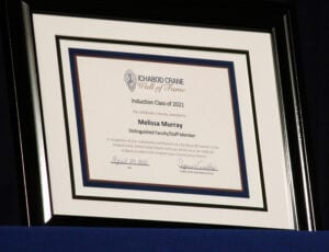 Wall of Fame Certificate for Melissa Murray