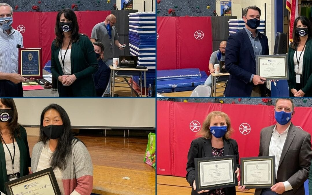District Honors School Physician & Board Members for Service