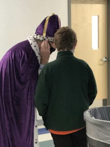 A spy reports to King Timothy.