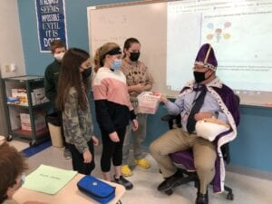 Students Barter with King Timothy