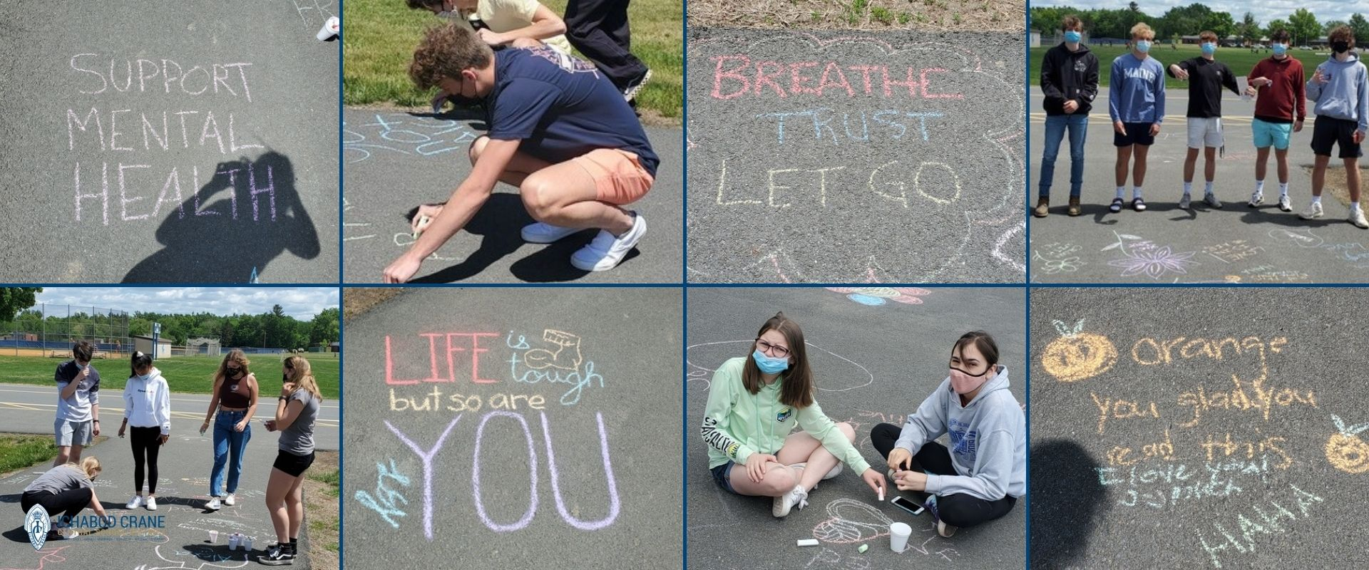 Chalk the Walk at the High School